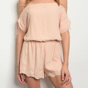 Laced Up Sleeve Romper